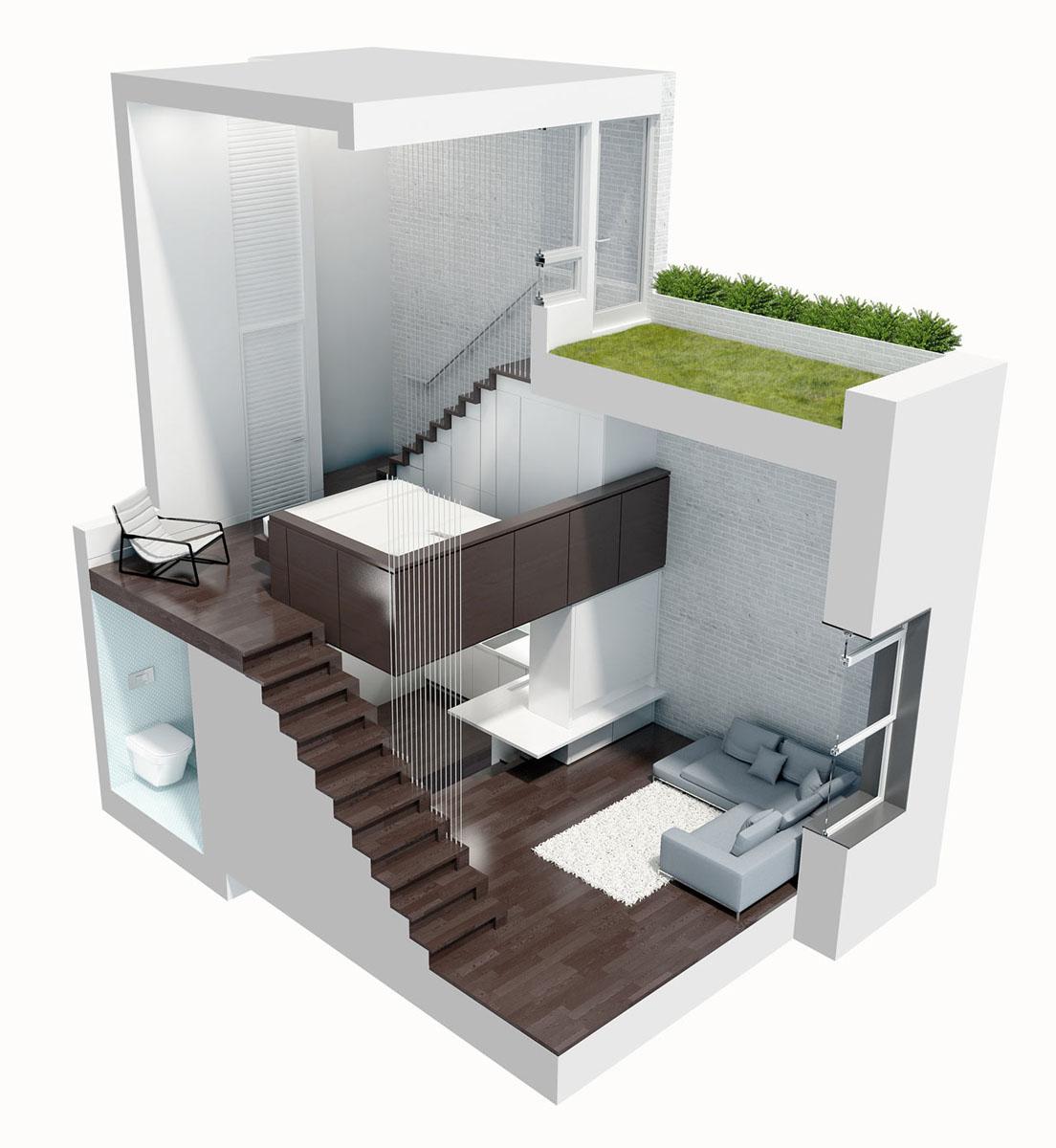 Loft Apartment Design tiny micro loft apartment in manhattan | idesignarch | interior