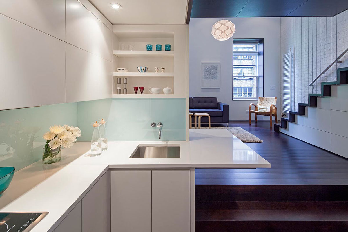 Micro loft new york city 2 idesignarch interior design for Minimalist apartment nyc