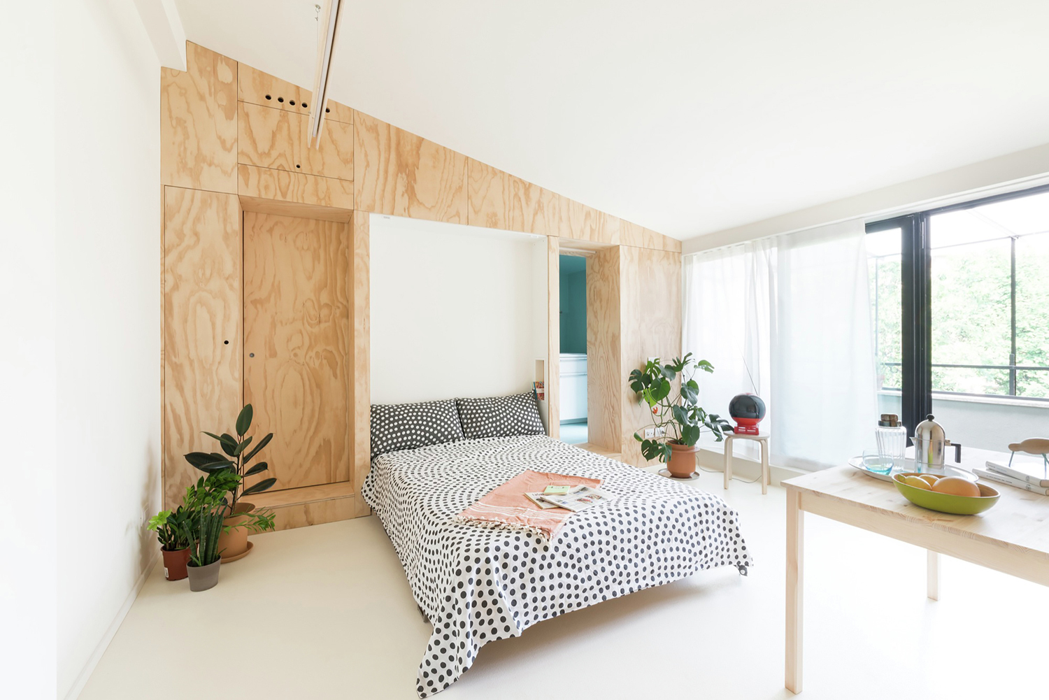 Studio Apartment Living. 300 Square Foot Tiny Studio Apartment With Flexible Living Space