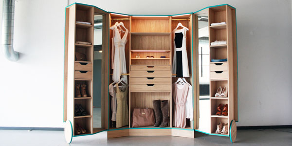 Into A Mini Walk In Closet It Is Ideal For Small Studio Apartments