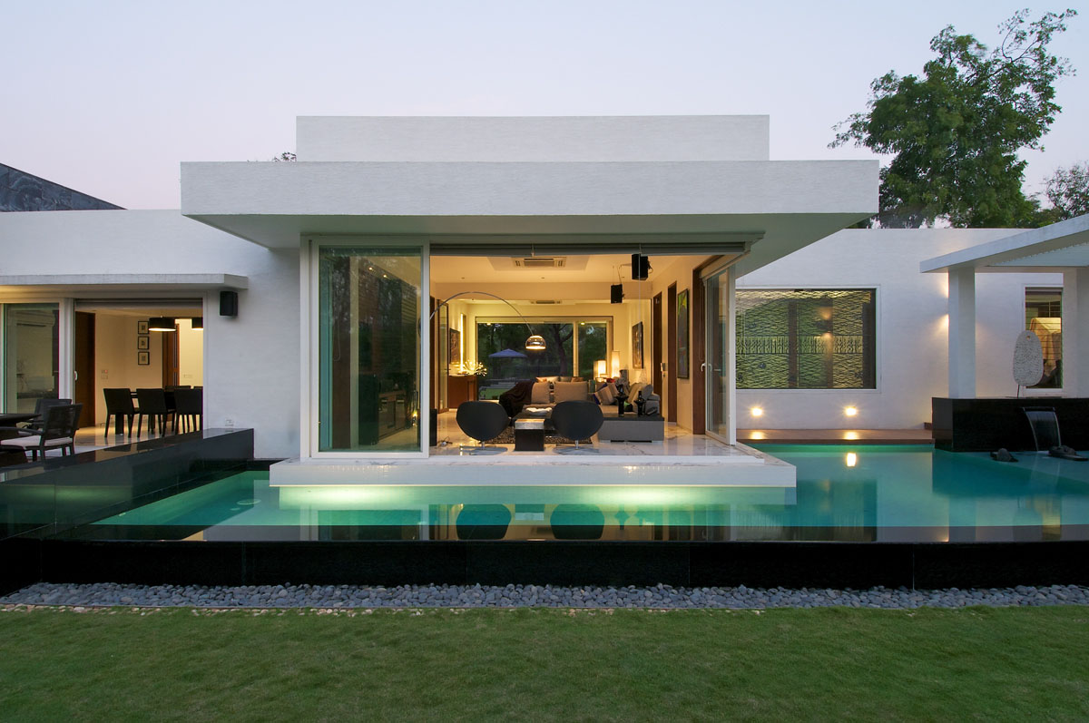 Minimalist bungalow in india idesignarch interior for Immagini case moderne esterni