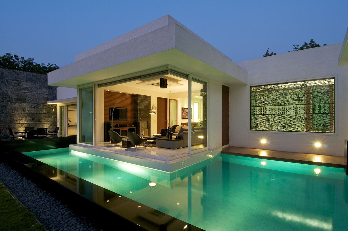 Minimalist bungalow in india idesignarch interior for Contemporary home designs india