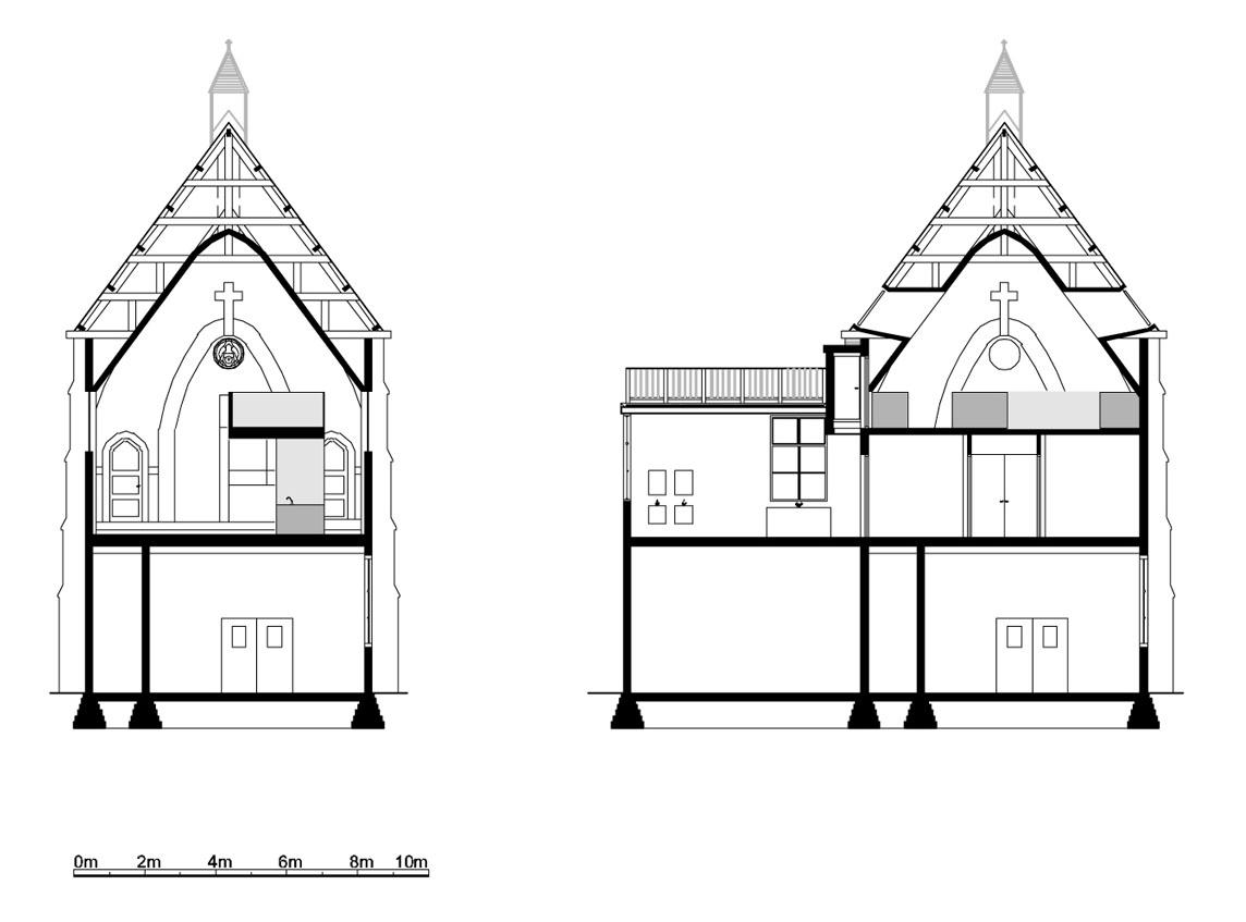 minimalist church conversion home | idesignarch | interior design