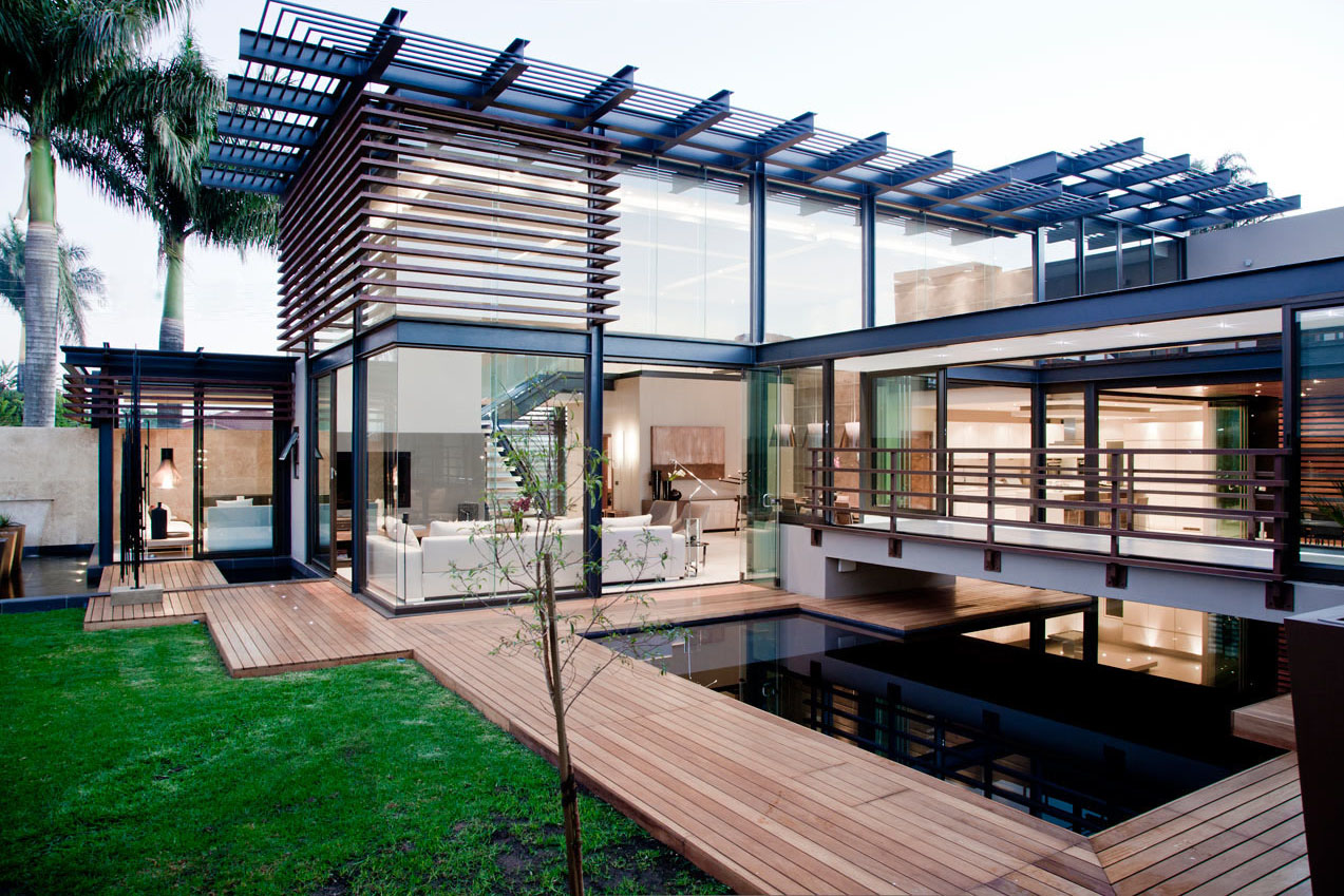 Minimalist Opulent Luxury Home With Lots Of Glass, Steel And Wood