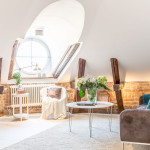 Dream Attic Apartment In Stockholm With Preserved Wood Beams