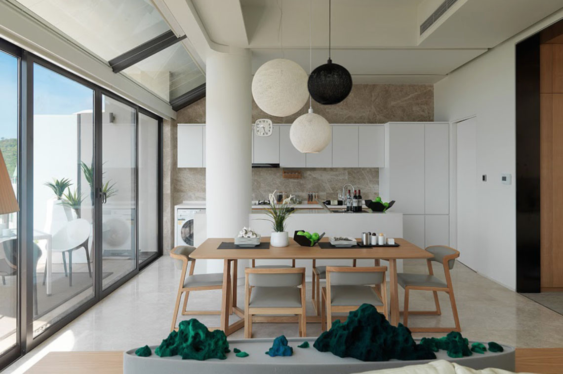 Stylish modern apartment in southern china with mountain - How to design an apartment ...