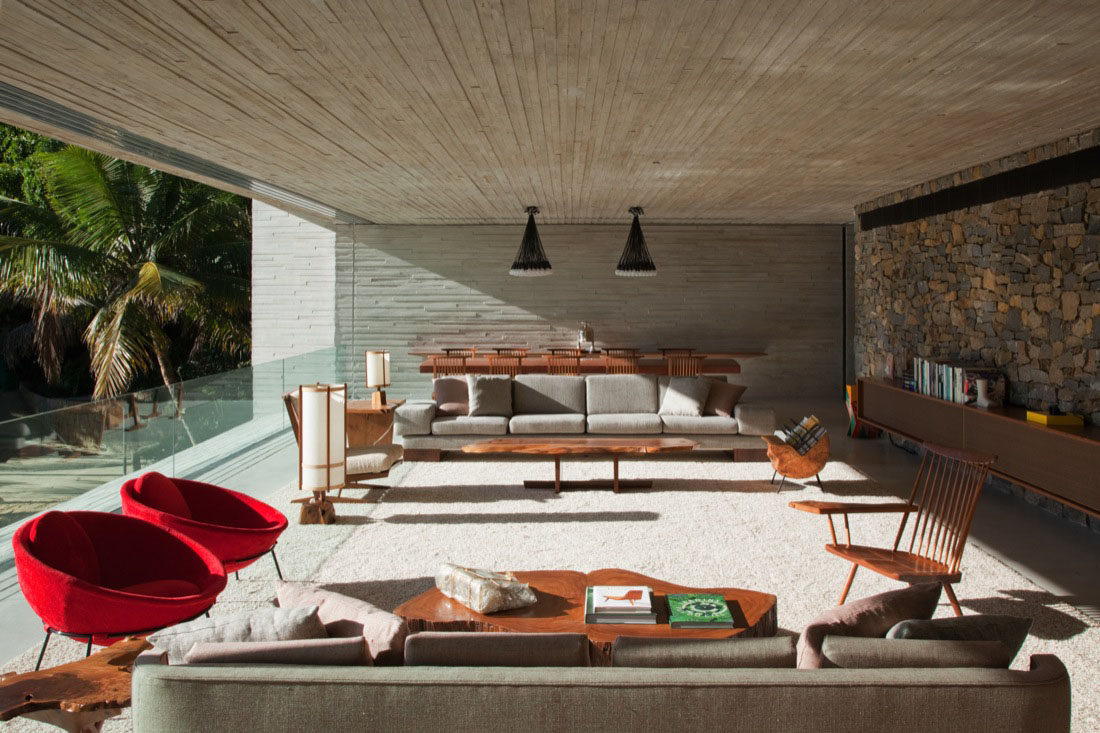 modern beach house on the brazilian coast | idesignarch | interior