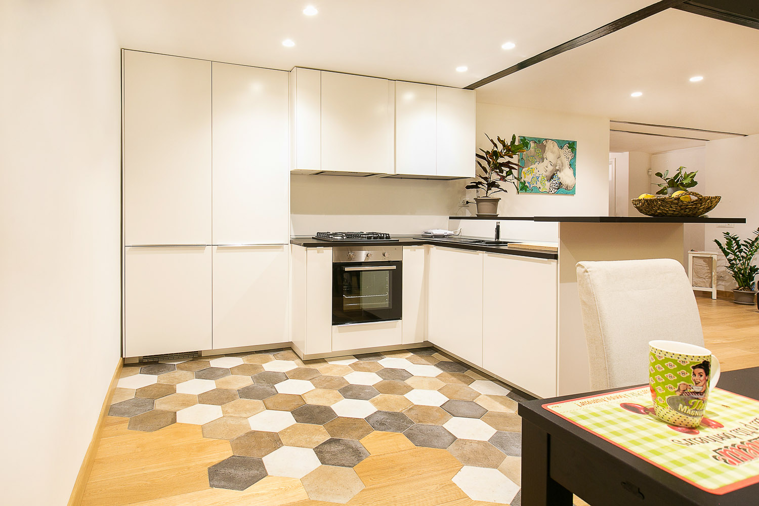 Renovated duplex apartment in torino with more open and for Duplex apartment design