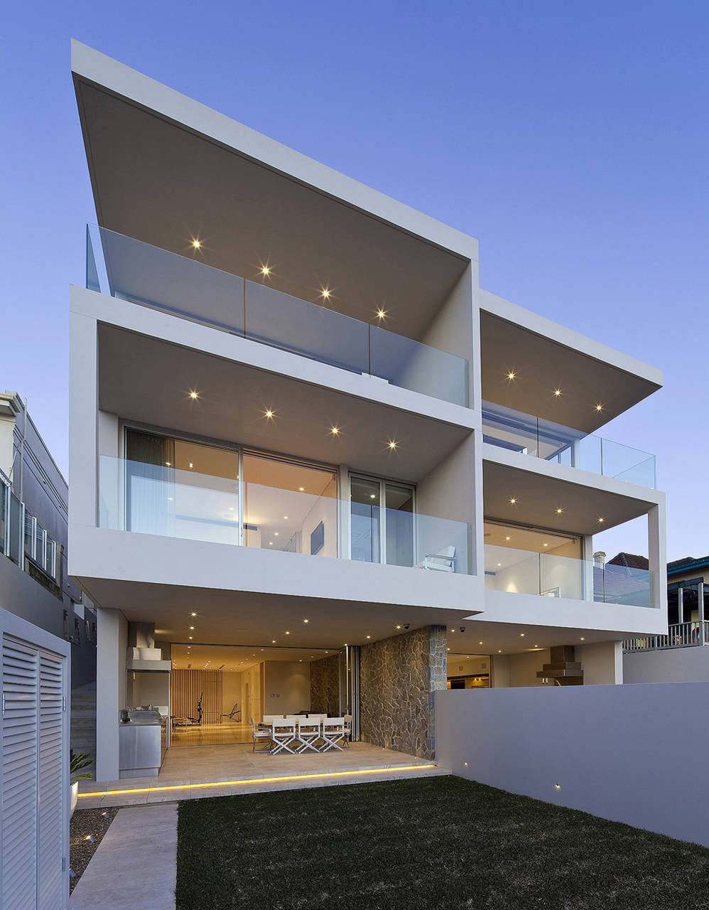 Modern duplex with views of sydney harbour idesignarch for Contemporary duplex plans