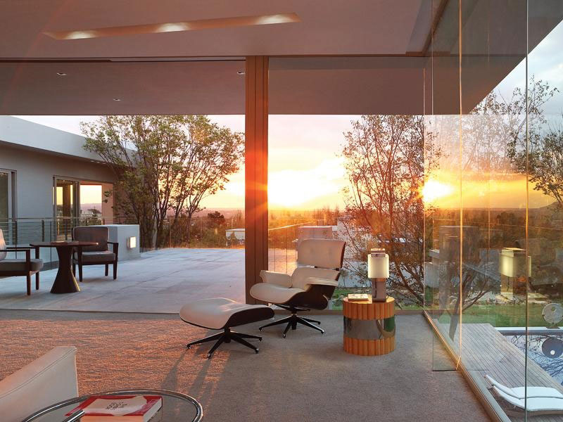 Modern Home Johannesburg at Sunset