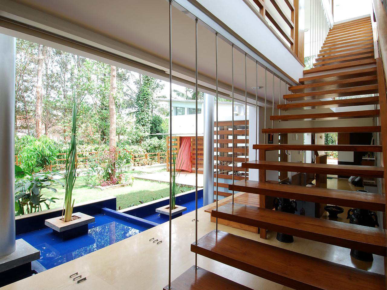 Modern open concept house in bangalore idesignarch for Open concept interior design