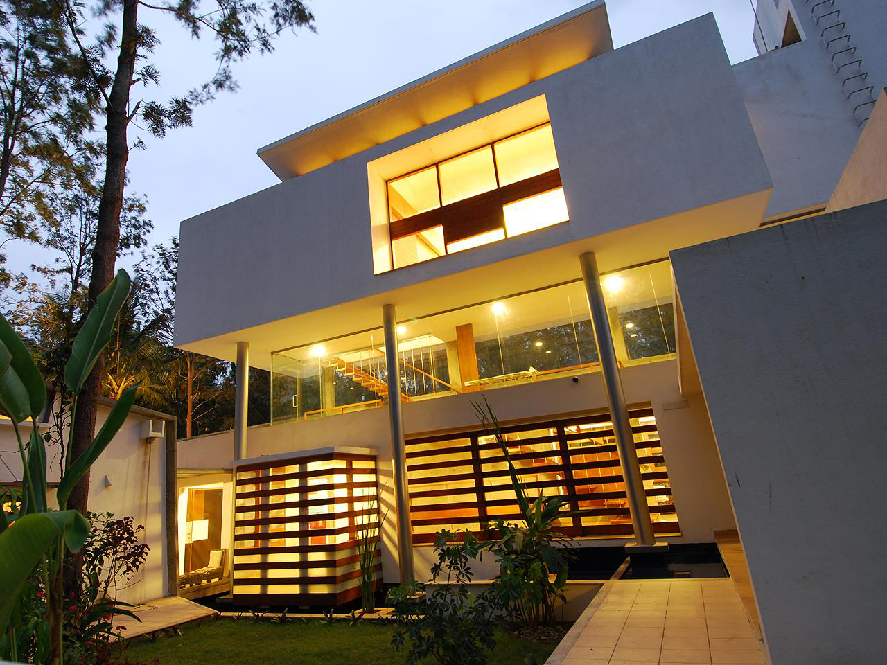 Modern Open Concept House In Bangalore | iDesignArch | Interior ...