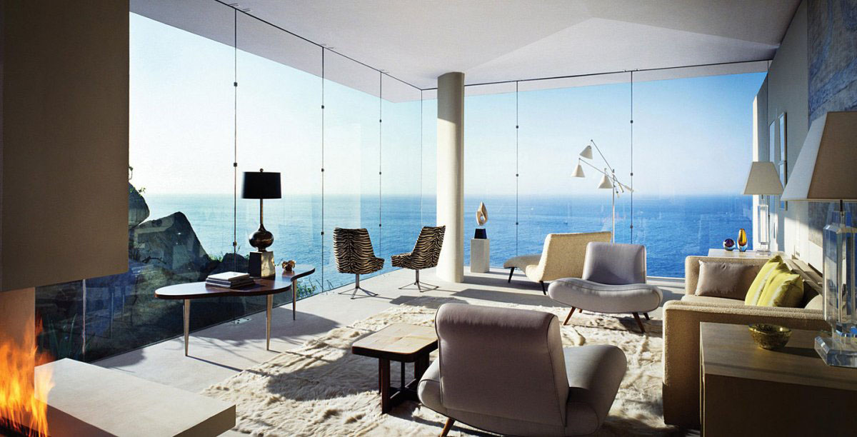 Beautiful Home Design With Modern Vintage Interior Ocean View Modern House Cabo San Lucas 11