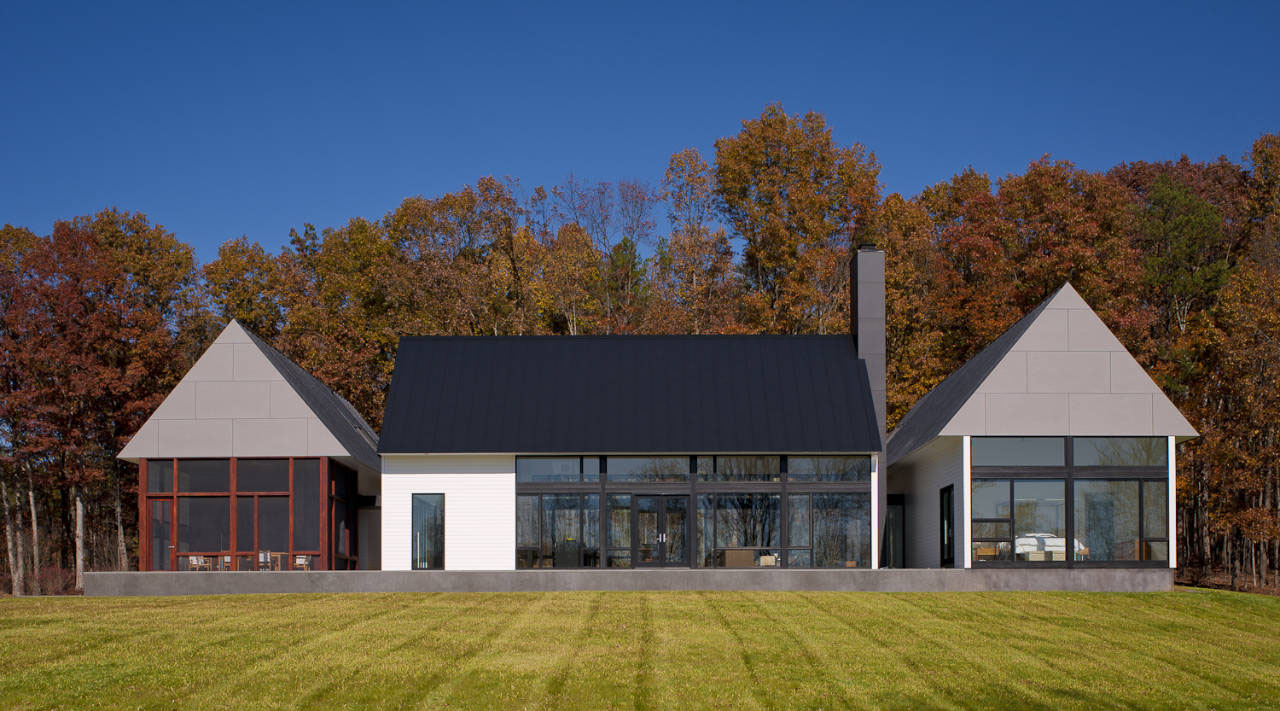 Modern house in virginia countryside idesignarch for Modern country house
