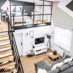 Loft Apartment Features ModernScandinavian Interior with Industrial Twist