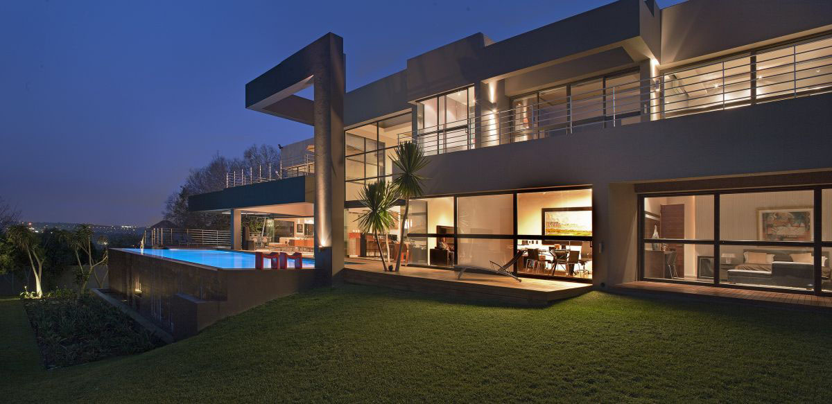 Modern luxury home in johannesburg idesignarch for Luxury contemporary house plans