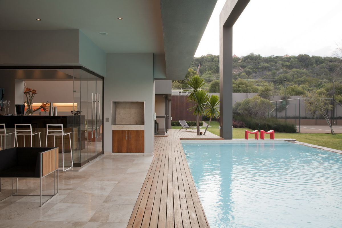 Modern luxury home in johannesburg idesignarch for Pool design johannesburg