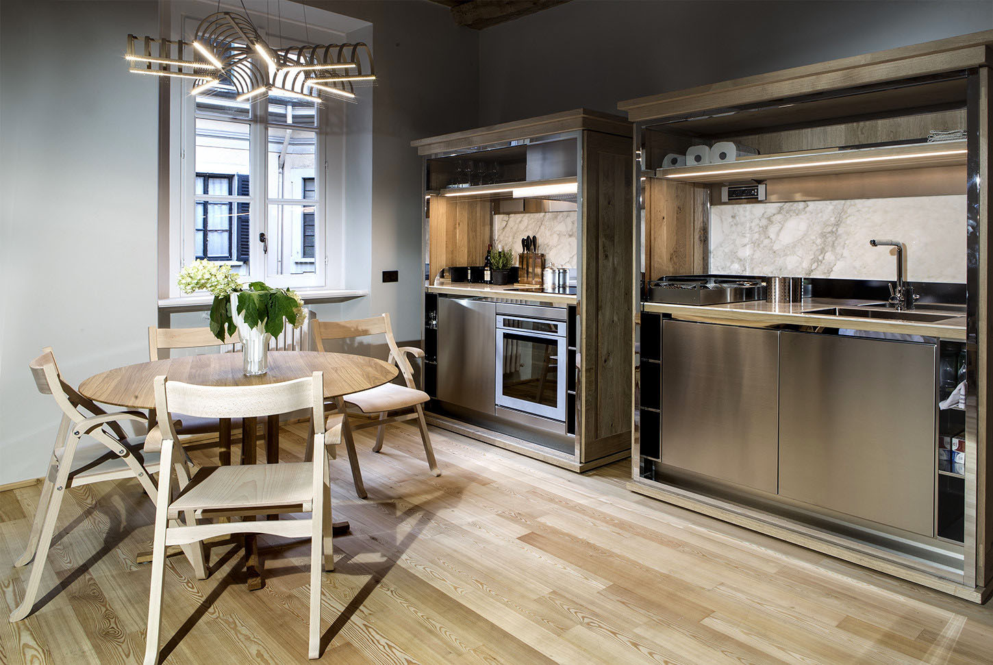 Modular Wood Apartment Kitchen Units