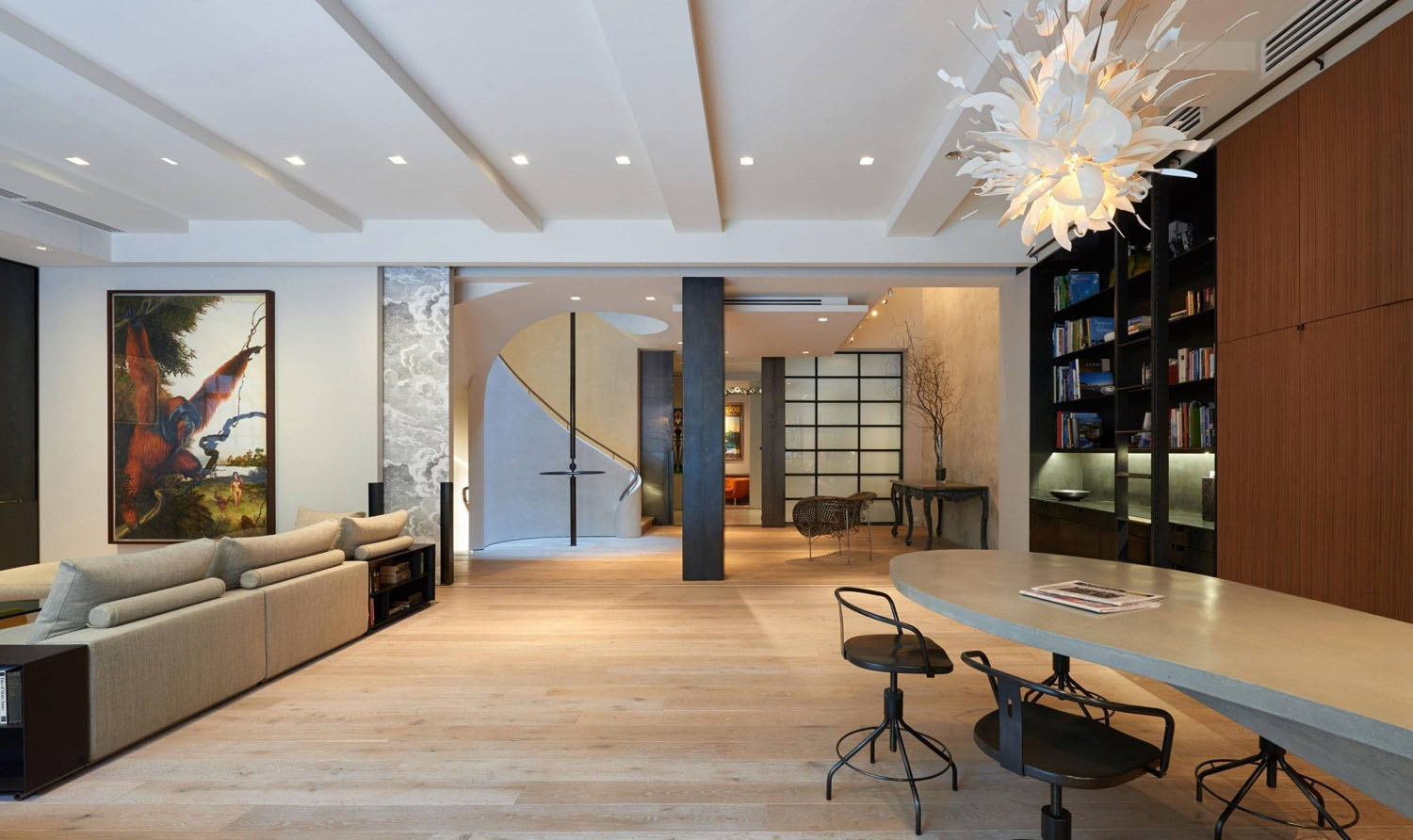 modern redesign of a new york city residence brings the outside in