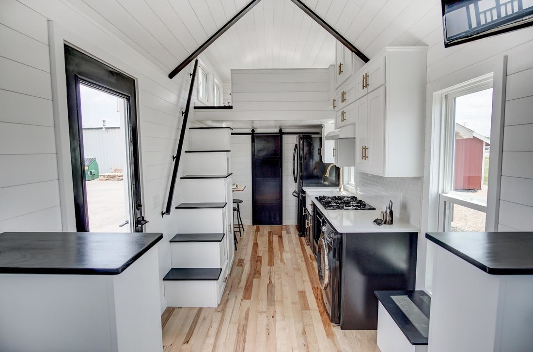 Inside a Luxury Tiny Home with Stairway