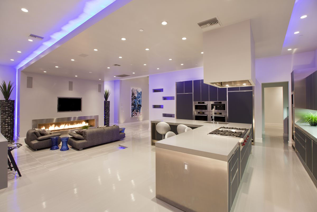 Home Interior Lighting Modern Upscale Home In Las Vegas IDesignArch Interior Design