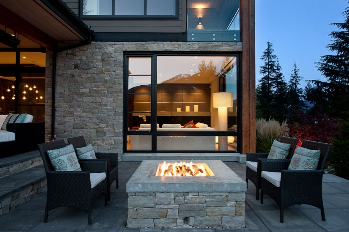Modern chalet in whistler idesignarch interior design architecture interior decorating - Houses outdoor fireplace ...