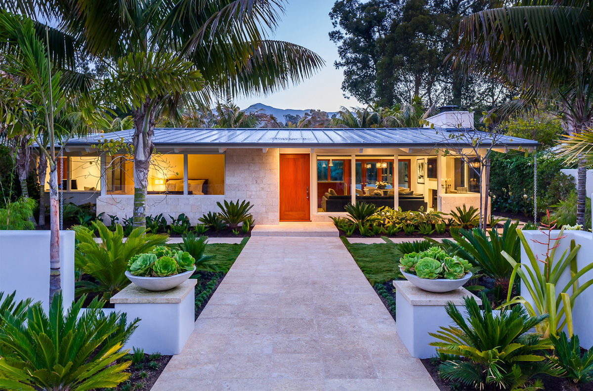 Renovated Mid Century Modern Ranch Style Bungalow in Montecito