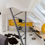Cool Small Attic Loft Apartment With Minimalist Design