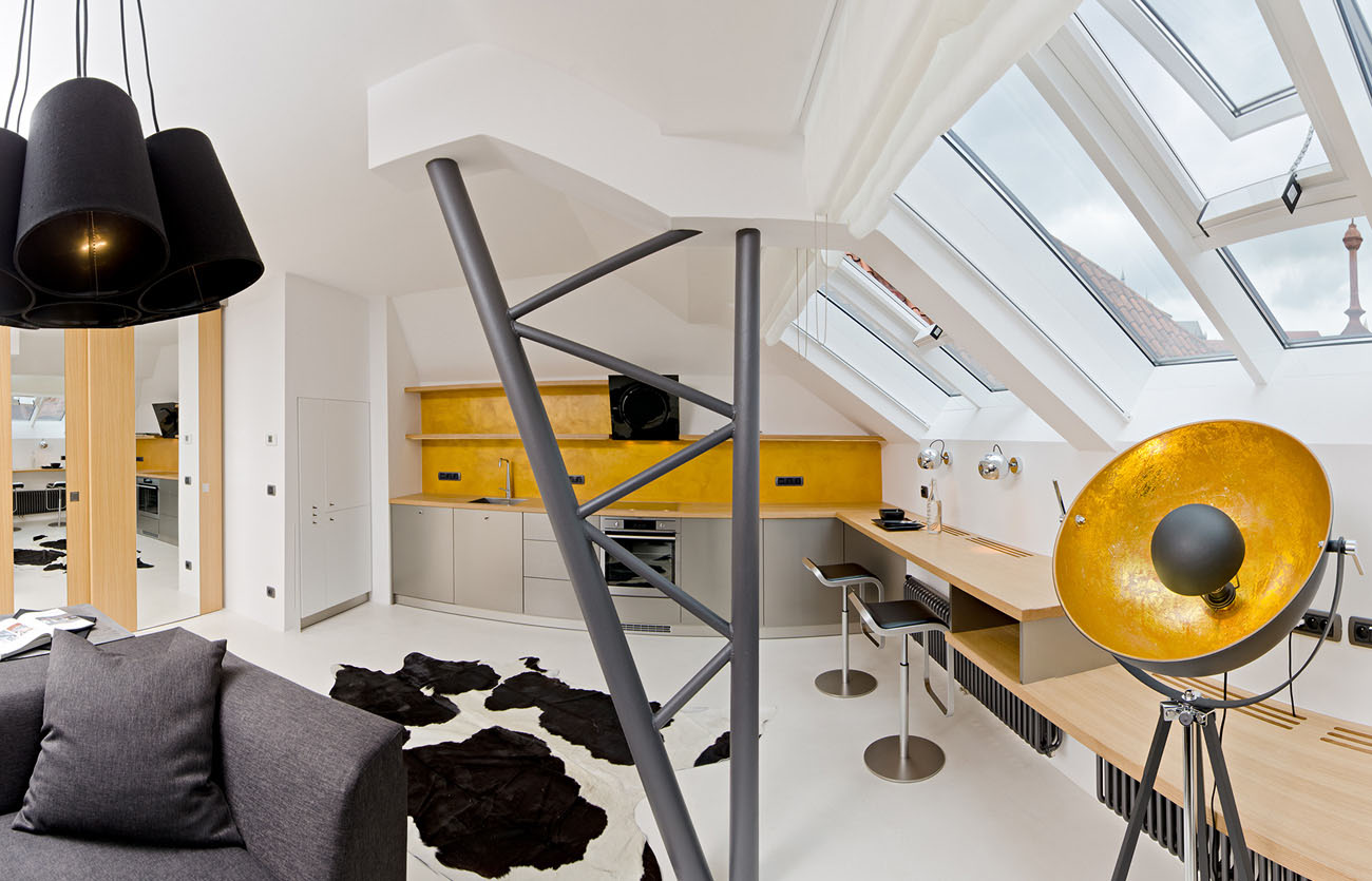 Tiny Attic Loft in Prague