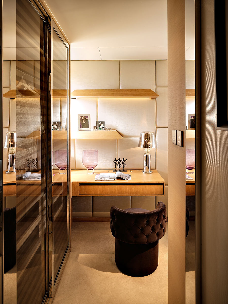 Small luxury flat in hong kong idesignarch interior for Bedroom designs with attached bathroom and dressing room