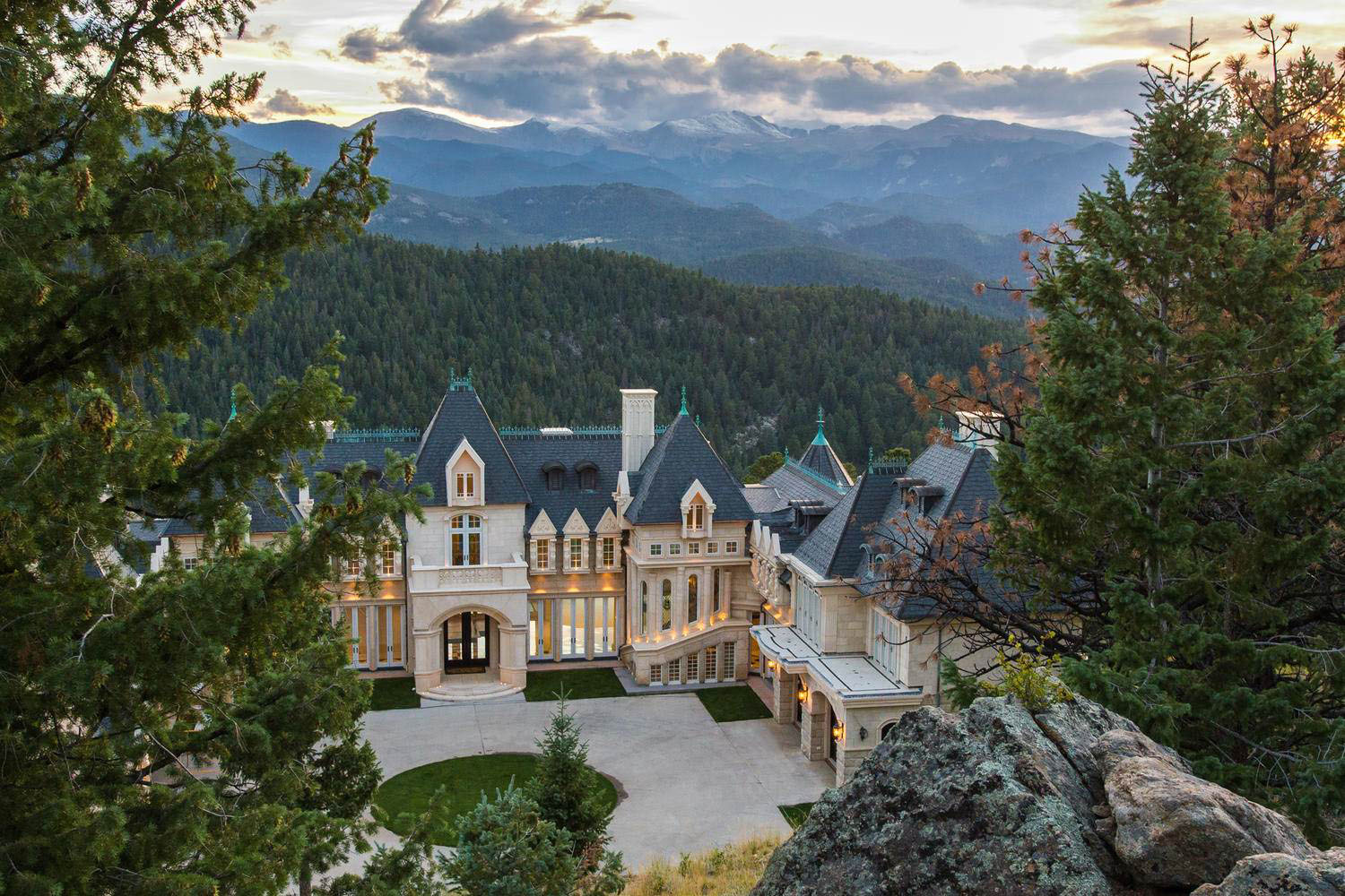 Grand Chateau Residence In The Colorado Rocky Mountains on Colorado Mountain Mansions
