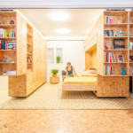 Dynamic Wooden Studio Unit That Allows Easy Reconfiguration Of A Small Space