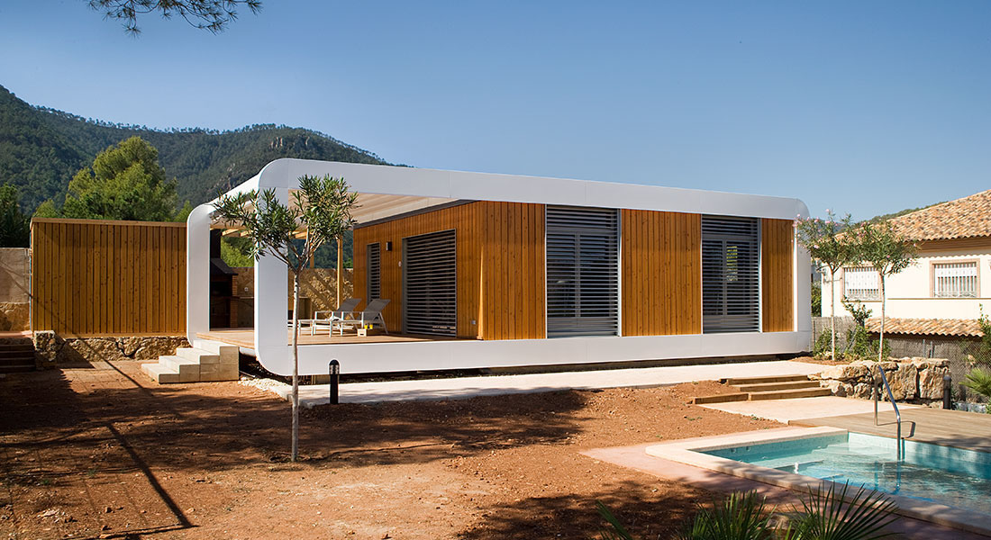 Smart Home Design From Modern Homes Design: Modern Smart Country House Combines Two Prefabricated