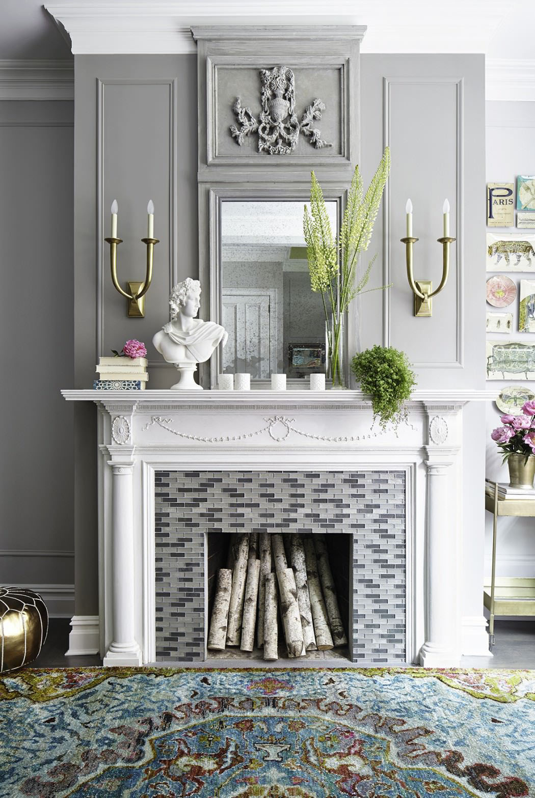 Contemporary Vintage Mantle