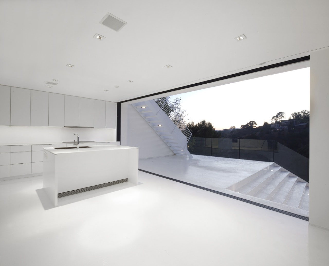 Abstract minimalist house in hollywood hills idesignarch for Minimalist design
