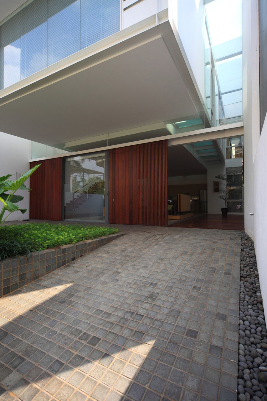 Narrow House Maximizes Space On Three Floors IDesignArch - Modern house jakarta