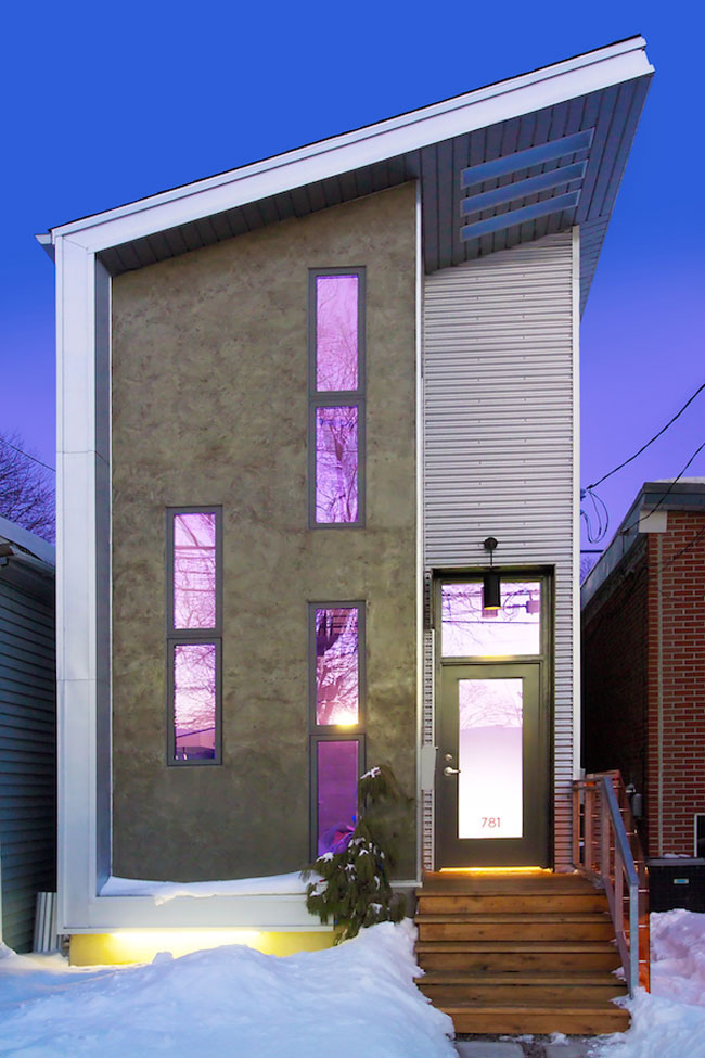 Narrow modern infill tiny house idesignarch interior for Small house designs canada