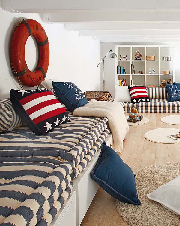 nautical inspired bedroom for boys idesignarch. Black Bedroom Furniture Sets. Home Design Ideas