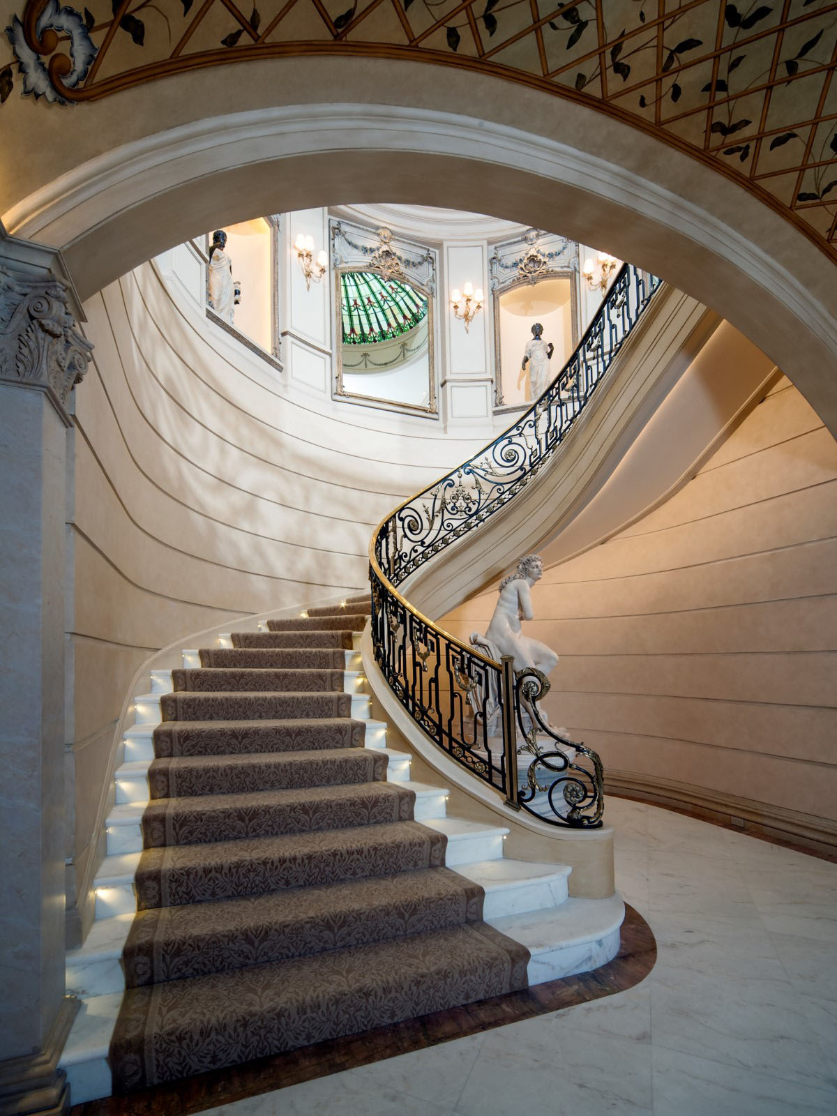 Neoclassical chateau style estate in texas idesignarch for Luxury staircase