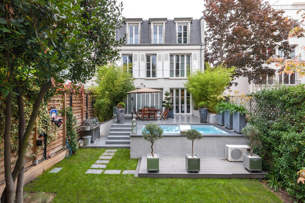 Exquisite contemporary townhouse in neuilly sur seine idesignarch