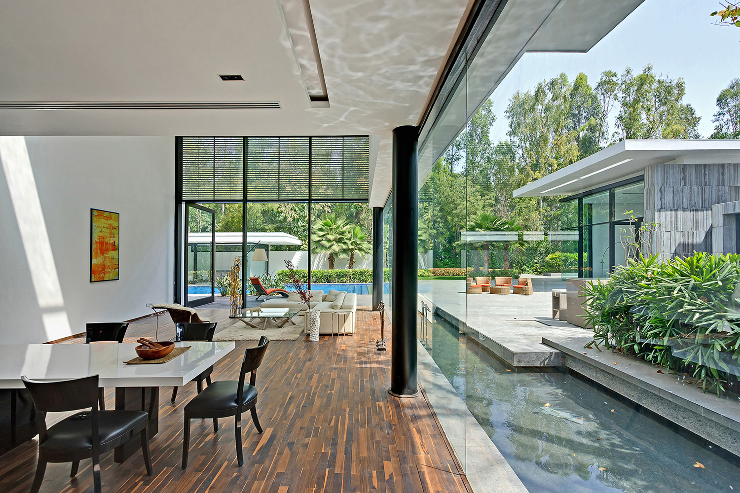 Open Concept Modern Home in India