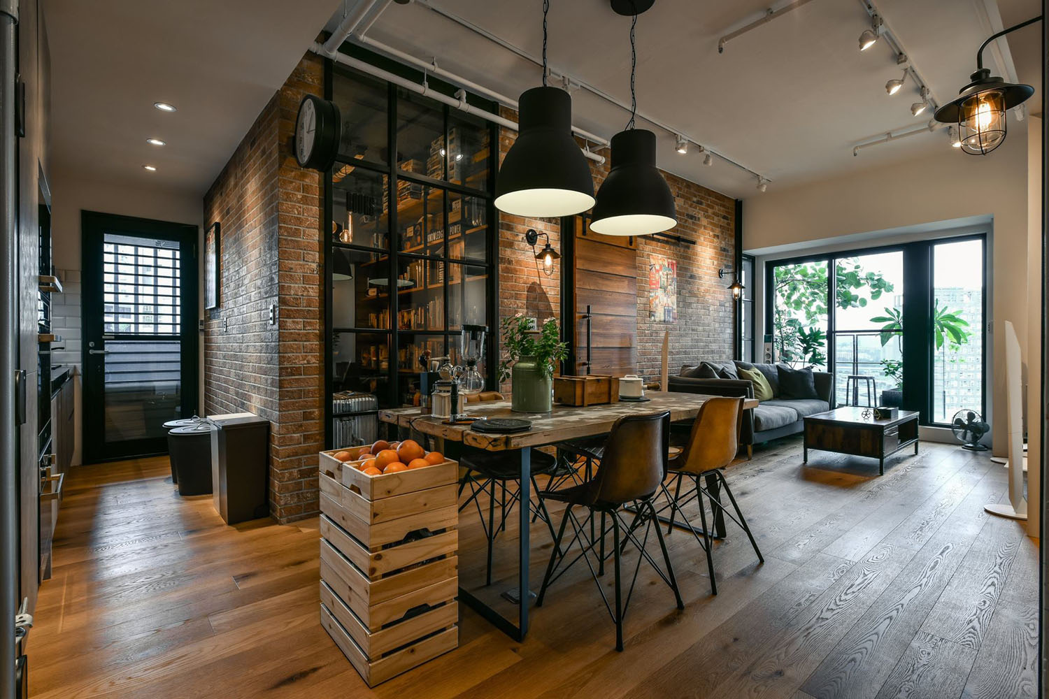 New taipei city industrial loft apartment 1 for Industrial arredamento