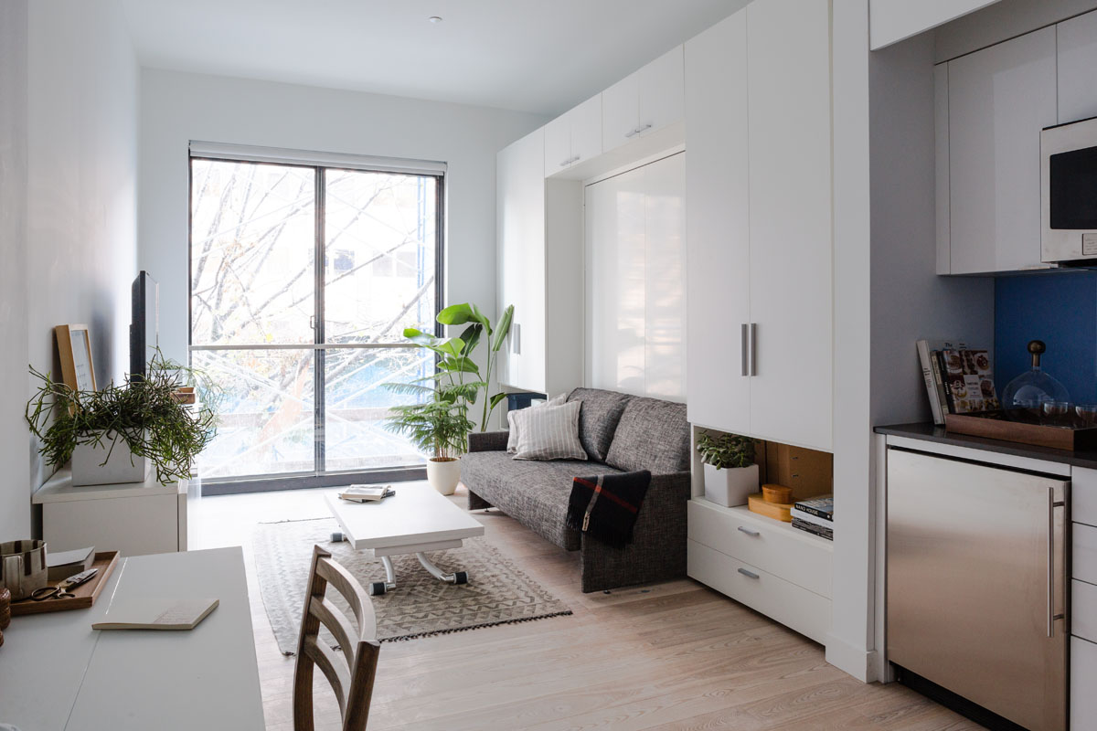 Prefab new york micro unit apartment building offers 300 square feet apartment