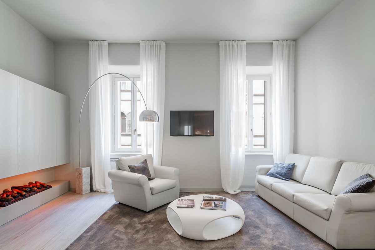 Modern holiday apartment with a glass bedroom on a raised - Interior design trento ...