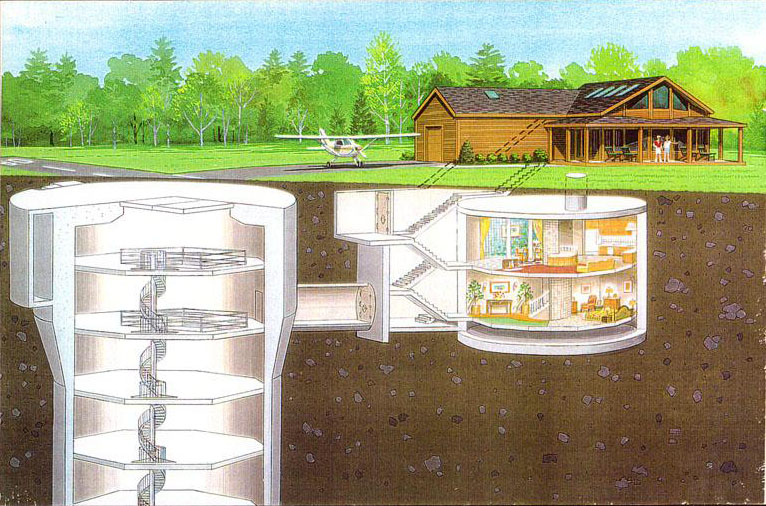 Nuclear missile silo converted to luxury home for Silo home designs