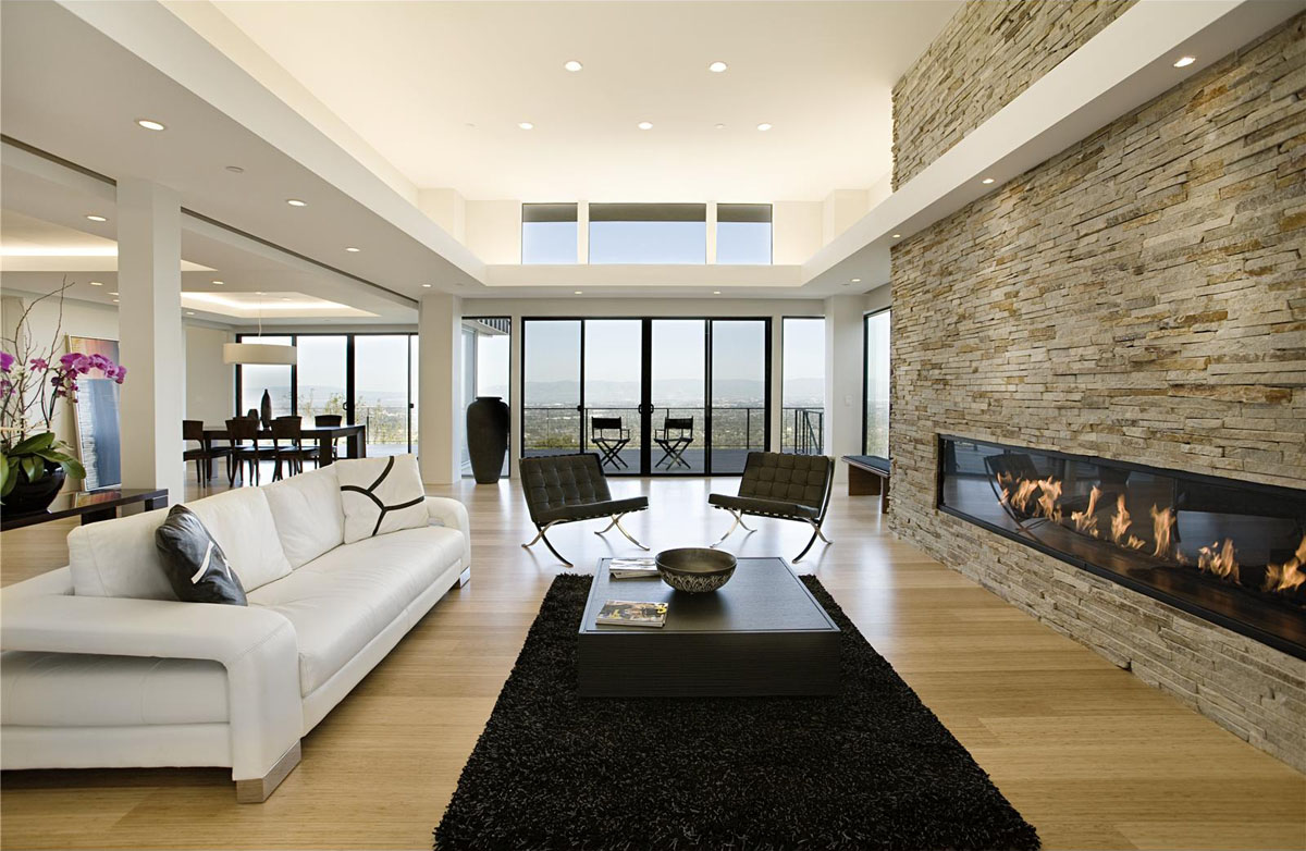 Modern home with sweeping valley view idesignarch for Clean modern living room