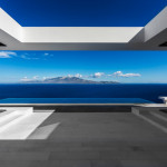 Minimalist Greek Villa With Dramatic Ocean And Island View