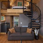 Cozy Waterfront Studio Cabin with Spiral Staircase