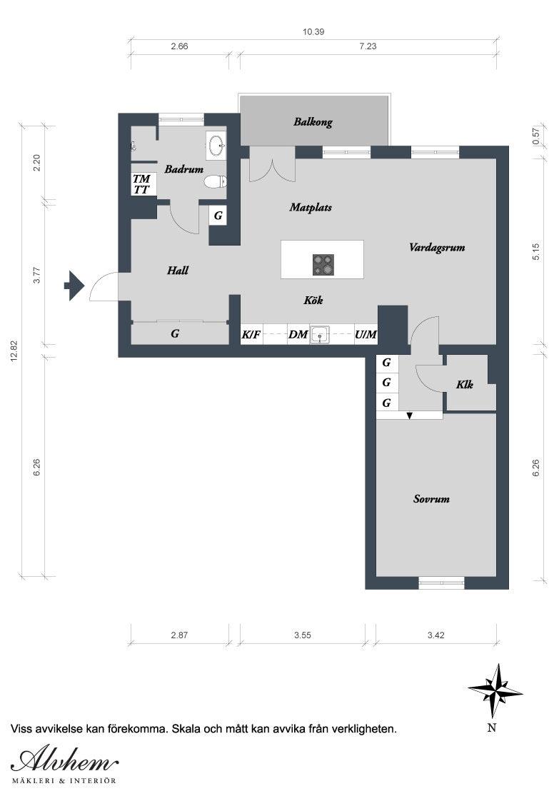 open plan apartment design in gothenburg idesignarch interior via alvhem