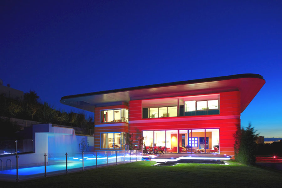 Modern Orange House In Turkey Idesignarch Interior